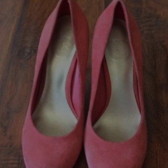 Jessica Simpson oscar coral peach heels
